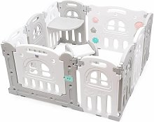 Costway - Parque Infantil Bebé con Mesa y Banco