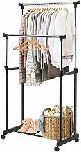 Costway - Perchero burro con rueda estante soporte