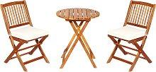 Costway Set 5 Piezas Muebles de Bistró 2 Sillas