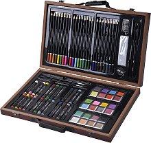 Costway Set de pintura color 80 piezas Set de