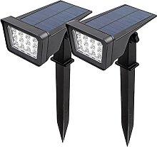 CPROSP 2PCS Focos Solares Blanc Chaud para