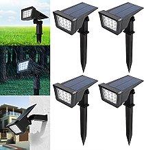 CPROSP 4PCS Focos Solares Blanc Chaud para
