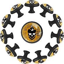 Cráneo amarillo Pattern for Cajón Armario
