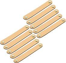 Creatwls 10 paquetes de tiradores de cuero hechos