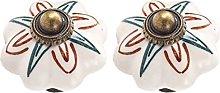 Creatwls 2 pomos de cerámica para armario de