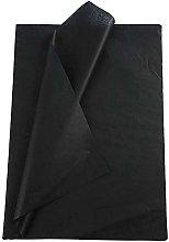Creavvee Papel de Seda, 25 Hojas, Color Negro