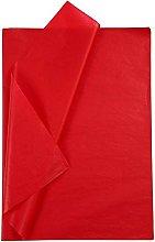 Creavvee Papel de Seda, C de Color Rojo, 25 Hojas
