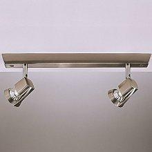 Cristalrecord - Foco Arco níquel satinado 2xGU10