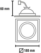 Cristalrecord - FOCO EMPOTRABLE 1 LUZ HELIUM QR111