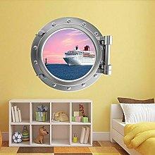 Crucero océano ojo de buey arte de la pared