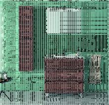 Ctesi - Mueble de baño con Lavabo de Porcelana -