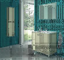 Ctesi - Mueble de baño con Patas y Lavabo de