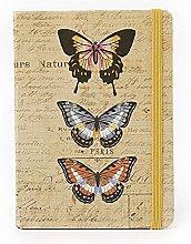 Cuaderno A5 Mariposa Marrón Agenda Retro Diario