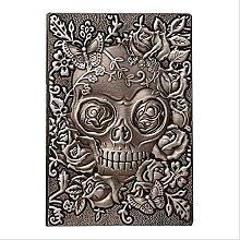 Cuaderno A5, Terror Creativo en relieve Cráneo