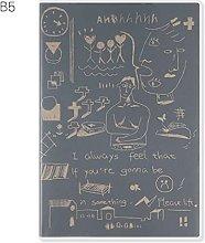 Cuaderno retro simple B5 Papelería Cuaderno