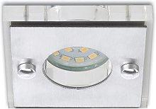 Cuadrado - foco empotrado LED Nikas níquel mate