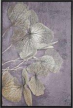 Cuadro en lienzo enmarcado dorado/gris 63x93 cm
