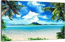Cuadro sobre lienzo - Impresión de Imagen - Playa