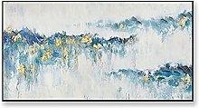 Cuadros Modernos Al Oleo,Blue Rolling Mountains