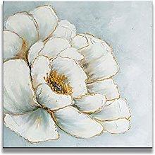 Cuadros Modernos Al Oleo,Textura Blanca Flor De