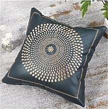 Cubierta de cojín decorativo bronceado bordado
