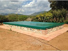 Cubierta de piscina invierno de 9,30x4,30 metros.