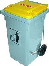 Cubo basura 120 litros de color verde Araven
