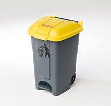Cubo basura 50 litros de color amarillo Araven