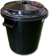 Cubo basura Colectividades negro 100 Lts