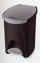 Cubo Basura Con Pedal 07Lt Plastico Plata - TES