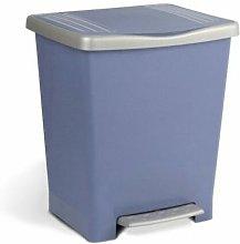 Cubo Basura Con Pedal 22Lt Plastico Azul Millenium