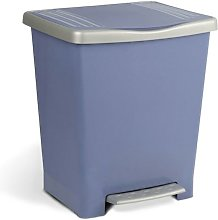 Cubo Basura Con Pedal 22Lt Plastico Azul Tatay