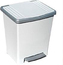 Cubo Basura Con Pedal 22Lt Plastico Blanco