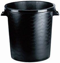 Cubo Basura Con Tapa 50 Lt Plastico Negro 31249 -