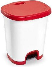 Cubo basura plastico apertura pedal 27 Litros Rojo