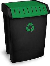 Cubo basura reciclaje verde 50 Lt Tatay