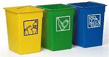 Cubo basura reciclar 29X32X40 cm. C/Asa metal -26