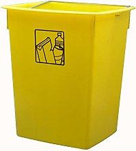 Cubo basura reciclar amarillo 26 litros C/Asa
