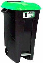 Cubo Con Pedal Eco 120L. Verde
