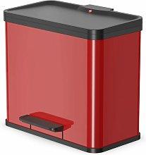 Cubo con pedal Oko Duo Plus tamaño L 17+9 L rojo