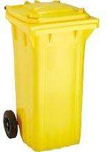 Cubo de baena WAVE 120-l plástico amarillo