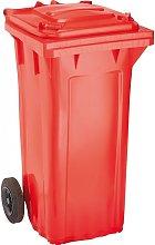 Cubo de baena WAVE 120-l plástico rojo