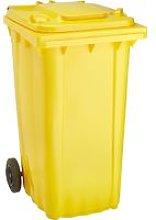 Cubo de baena WAVE 240-l plástico amarillo