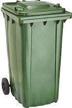 Cubo de baena WAVE 240-l plástico verde