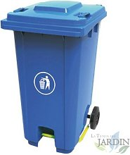 Cubo de basura 120 litros azul 56x48x93 cm