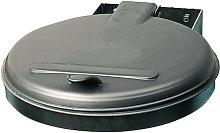 Cubo de basura A400xP510mm 120l tapa plata (KS) -
