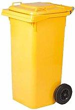 Cubo de basura amarillo de 240 lt, 720x580xh1060