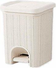 Cubo de Basura Basura Can Rattan Pedal Trash Home
