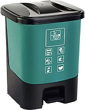 Cubo de basura con tapa, caja de clasificación de