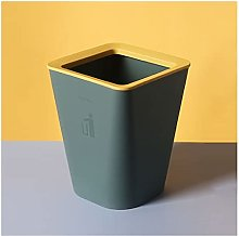 Cubo de basura cuadrado descubierto, sala de